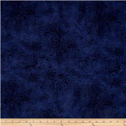 "110"" Wide Quilt Back Bella Suede Navy"