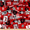 Collegiate Cotton Broadcloth Ohio State Patchwork
