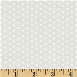 Kaufman Spot On Pindot Ivory Fabric