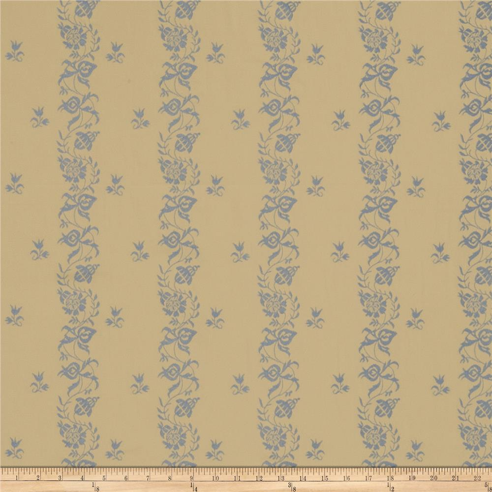 French General Maison Gabrielle Jacquard Bleu
