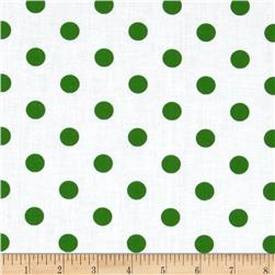 Spot On II Polka Dots White/Dark Green