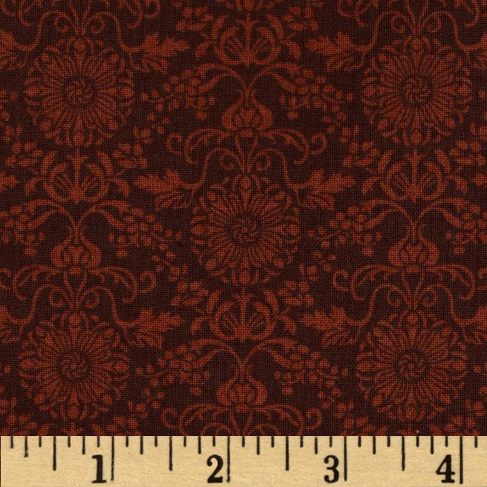 Regency Mini Brocade Burgundy
