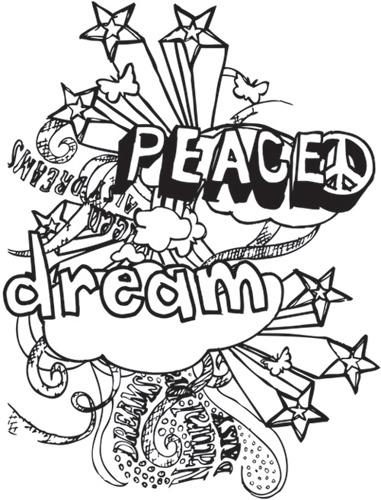 Simply Screen Silk Screen Stencil Peace Dream