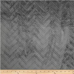 Minky Cuddle Embossed Chevron Charcoal Fabric