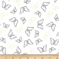 Yoriko Dependable Butterflies White