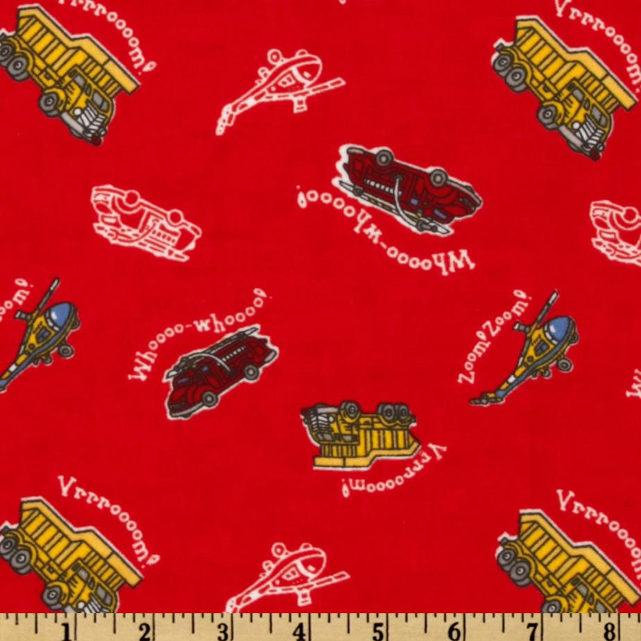 Camelot Flannel Transportation Red