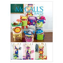 McCall's Baskets and Wall Hanging For Storage Pattern M6624 Size OSZ
