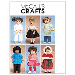 "McCall's Clothes for 18"" Doll Pattern M6006 Size OSZ"