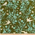 Joel Dewberry Bungalow Home Decor Sateen Swallow Study Forest