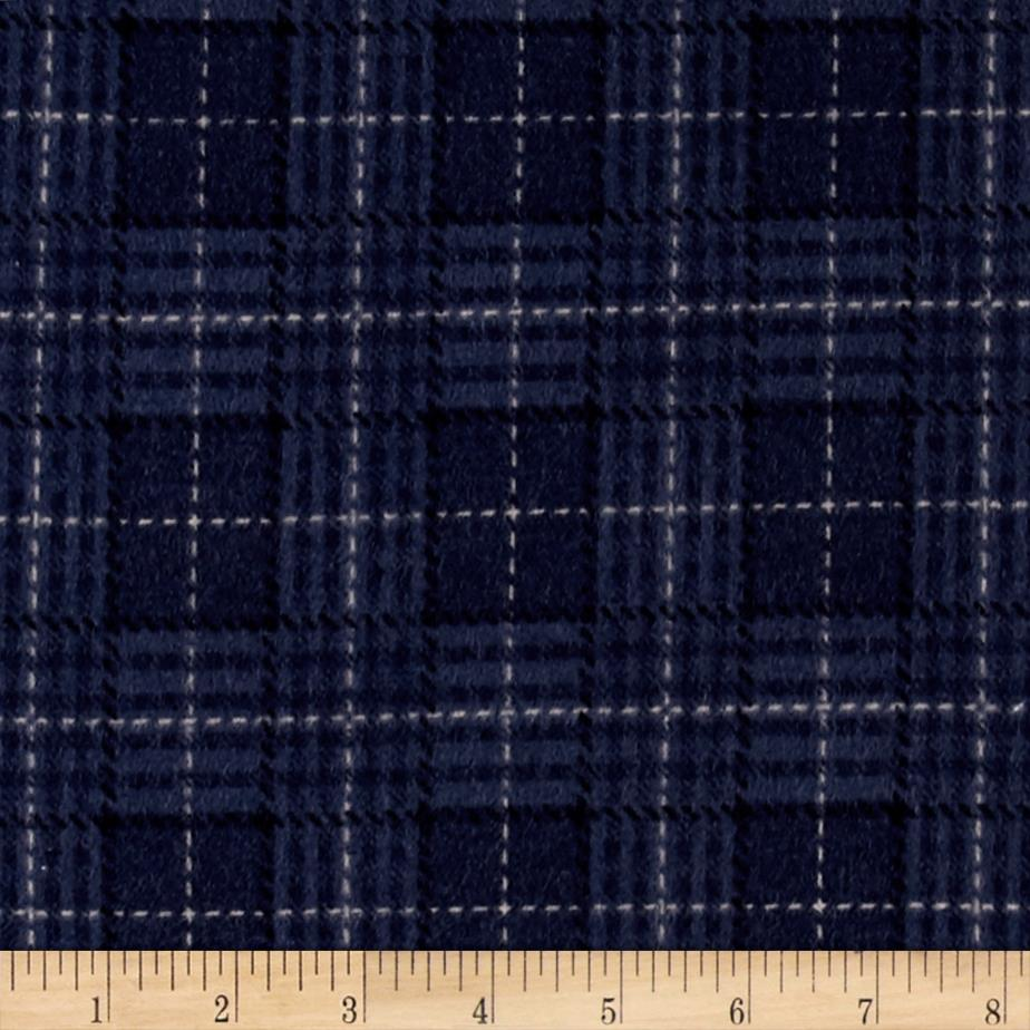 Moda Wool & Needle lV Flannels Back Forty Plaid Denim Blue