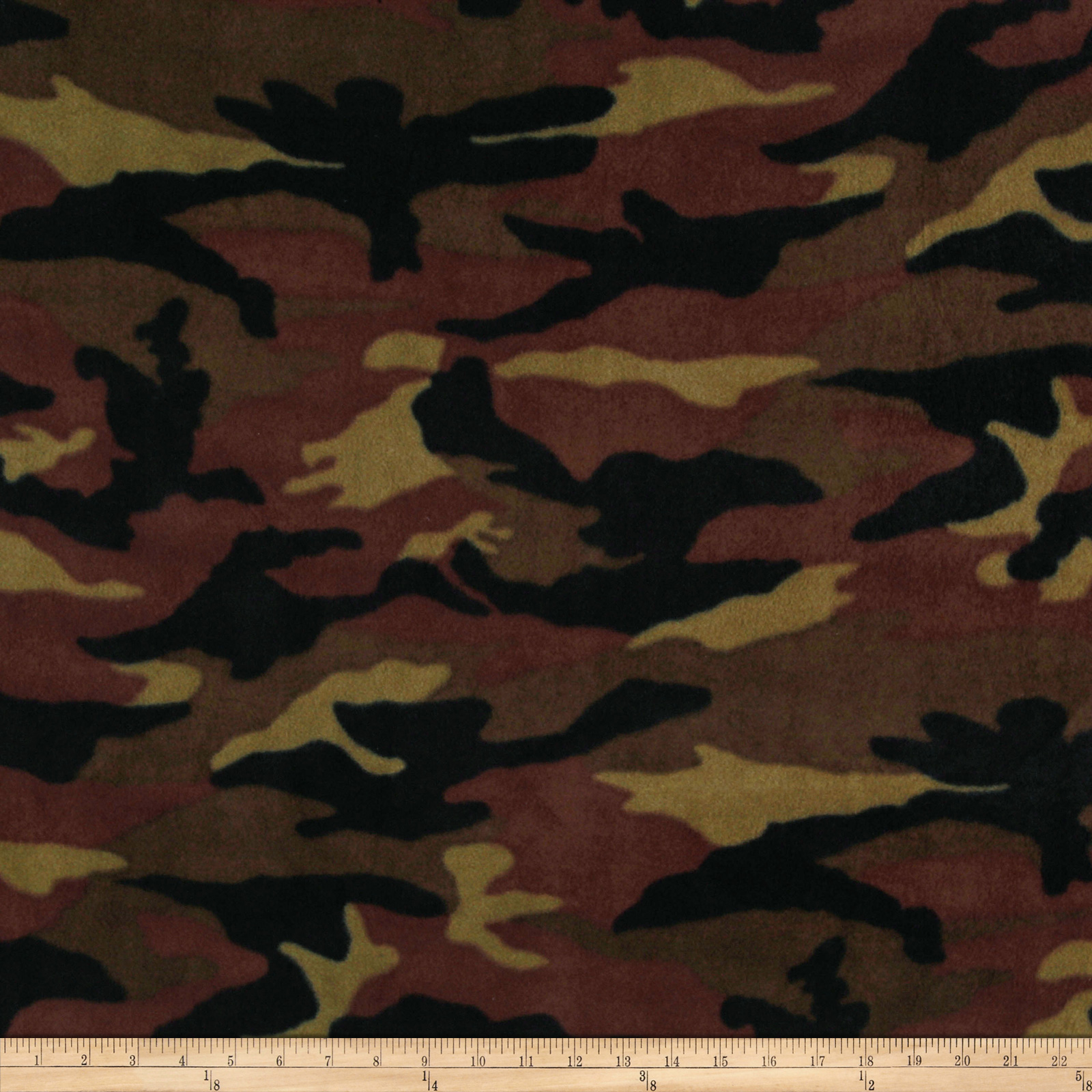 WinterFleece Woodland Camo Green Fabric