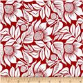 Modern Mixers III Large Floral Red