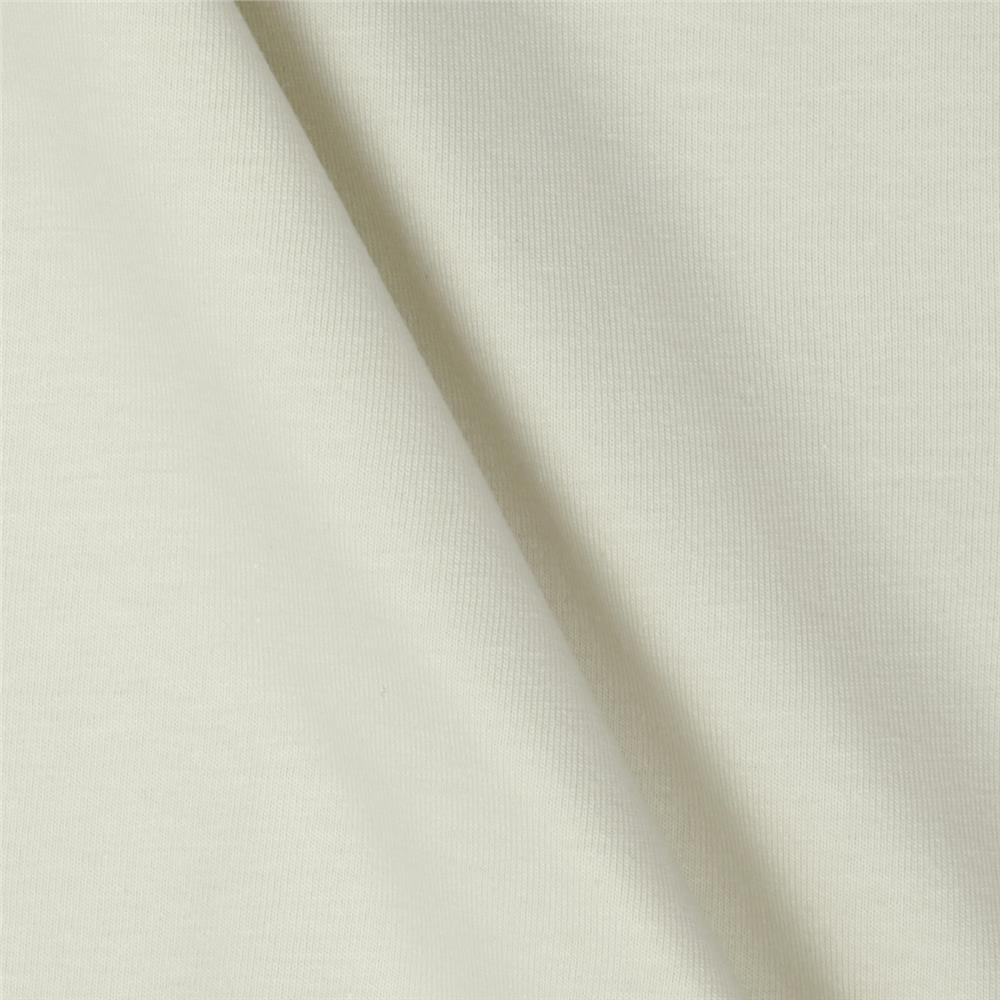 Art Gallery Solid Jersey Knit White Linen Fabric