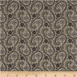 Downton Abbey Dowager Countess Paisley Deco Purple Fabric