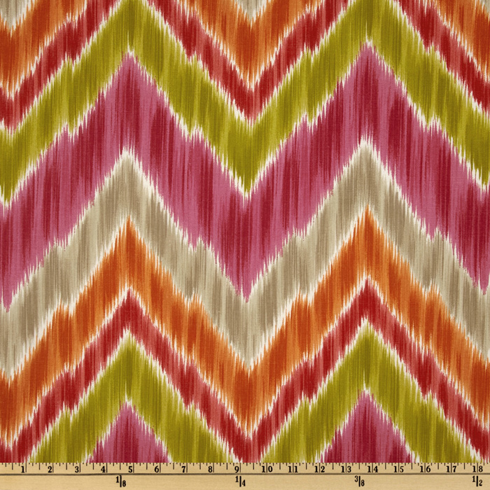 Braemore Tribal Find Ikat Chevron Fruity Fabric