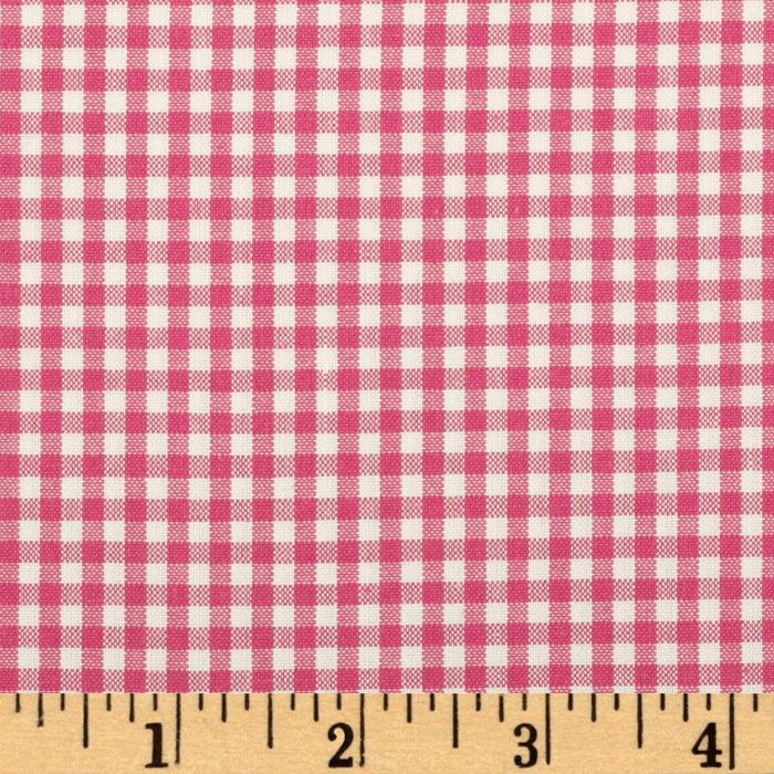 Kaufman 1/8'' Carolina Gingham Fuchsia