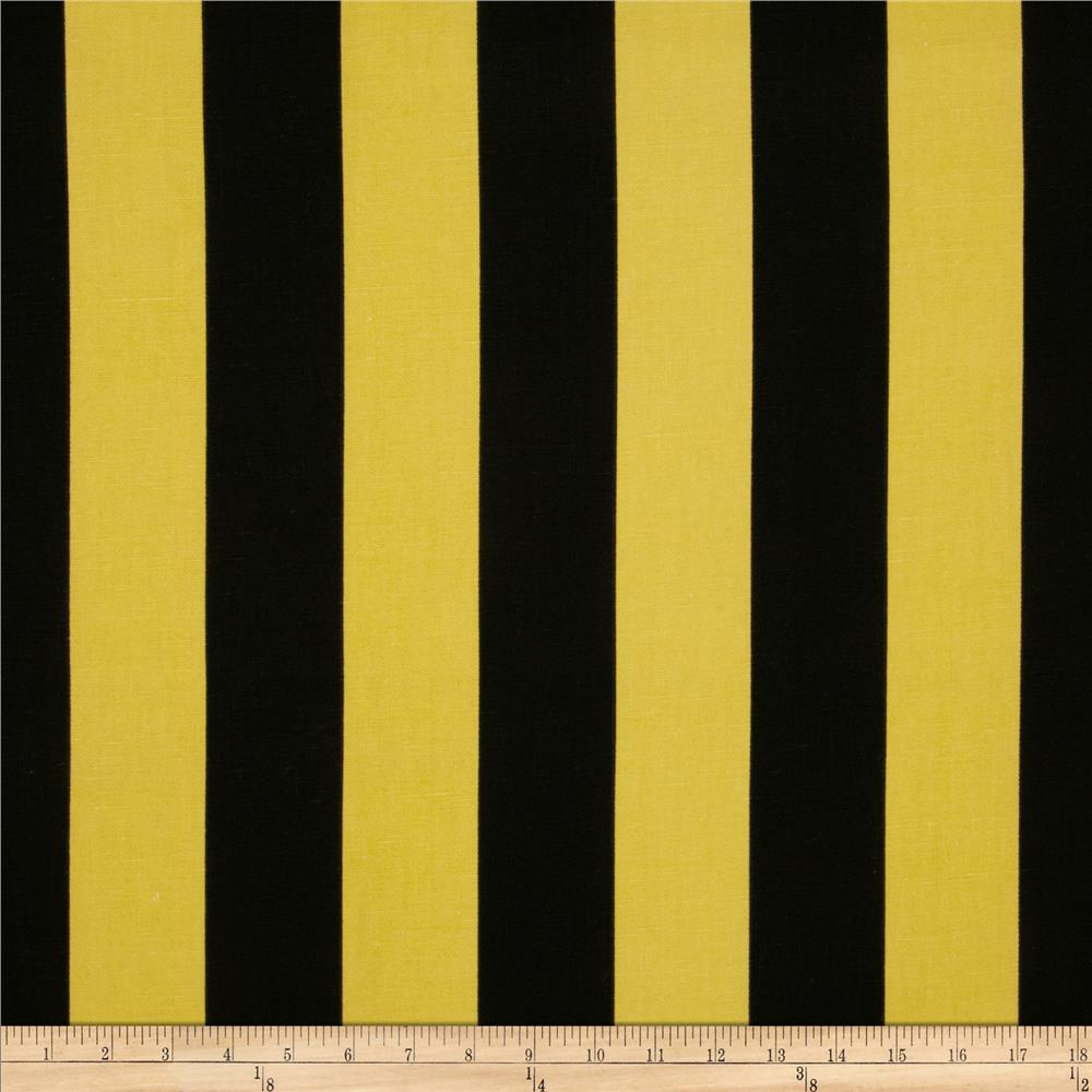 Caymans Indoor/Outdoor Deck Stripe Black/Yellow