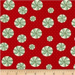 Back Porch Prints Peppermint Swirl Red