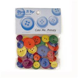 Dress It Up Color Me Collection Buttons Primary