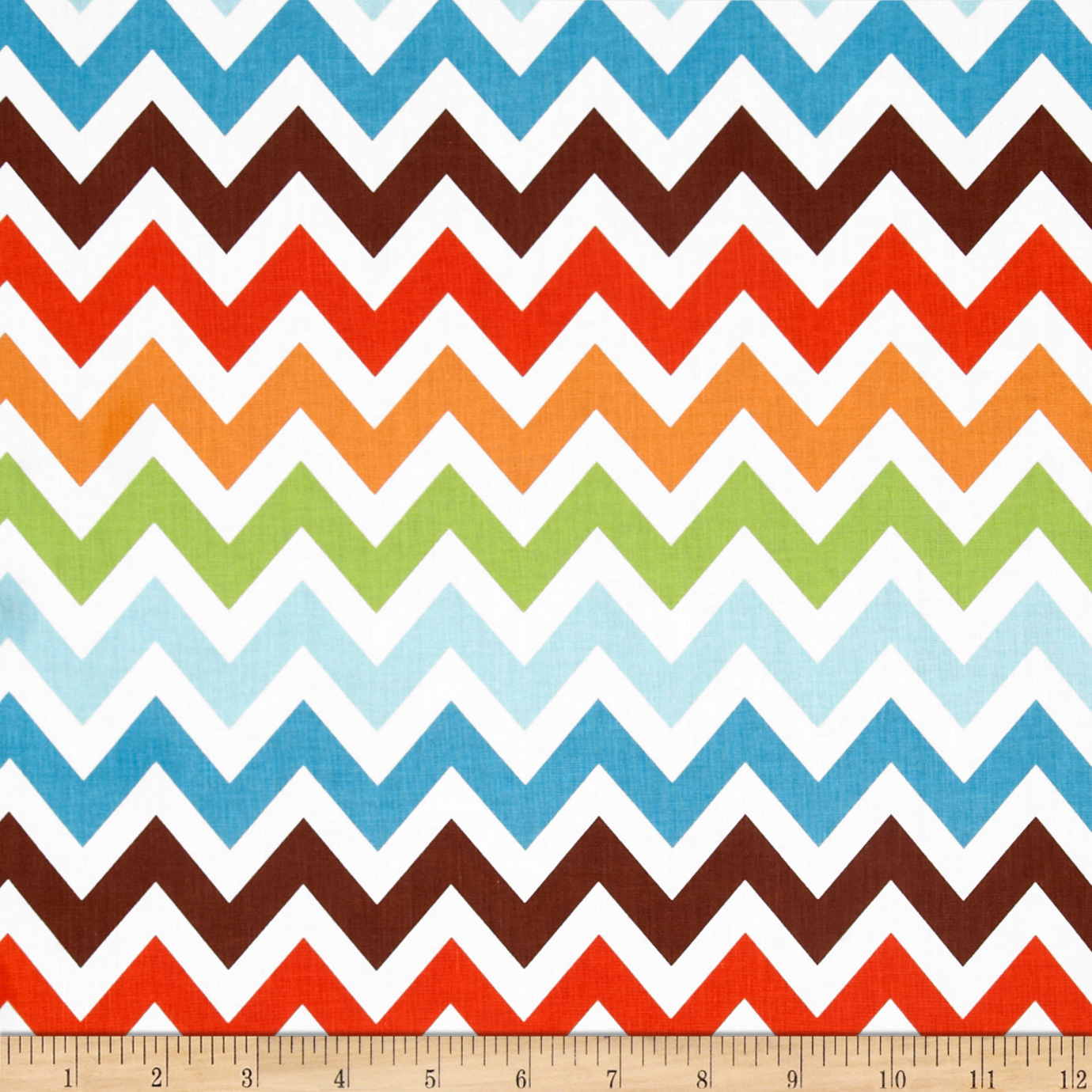 Remix Chevron Chocolate Fabric