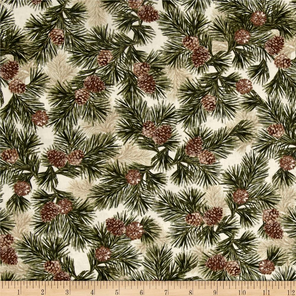 Kanvas Into the Woods Northern Pines Cream/Green