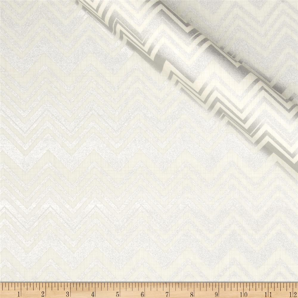 Jackie Heavy Metal Collection Chevron Metallic Silver