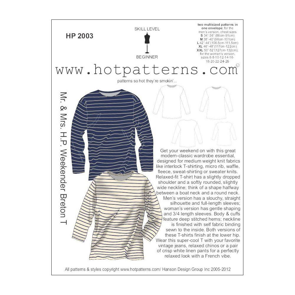 Hot Patterns Mr. and Mrs. H.P. Weekender Breton