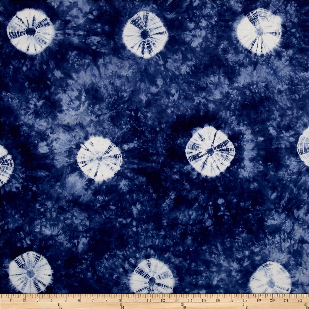 Indian Batik Wind Cave Tie Dye Blue /White