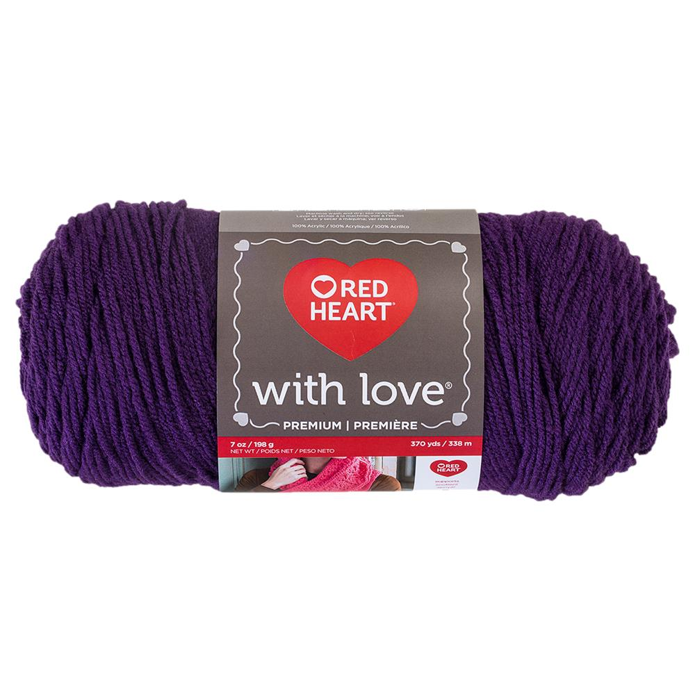 Red Heart With Love 1542 Aubergine