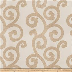 Fabricut Brando Scroll Silk Embroidered Natural