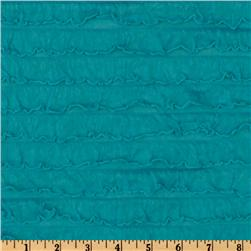 Stretch Ruffle Knit Turquoise