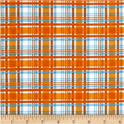 Alpine Flannel Plaid Orange
