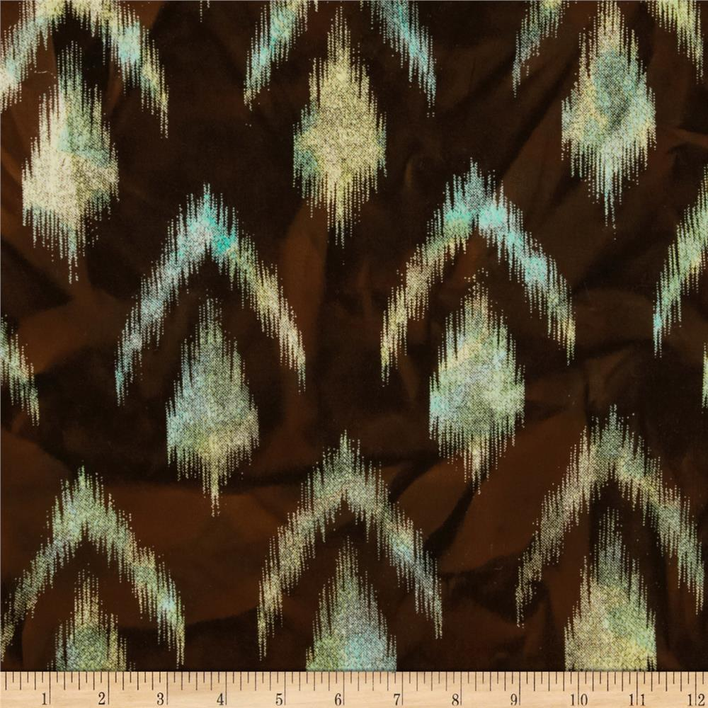 Hudson Bay Ikat Shirting Mint/Brown
