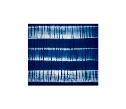 Indian Batik Wind Cave Tie-Dye  Wide Stripe Navy/White