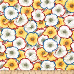 Kaffe Fassett Collective Picette Poppies Natural