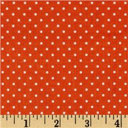 Riley Blake Swiss Dots Orange/White