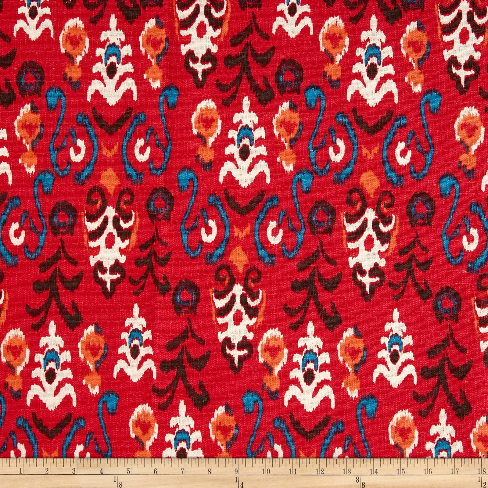 Premier Prints Neda Birch Poppy Fabric
