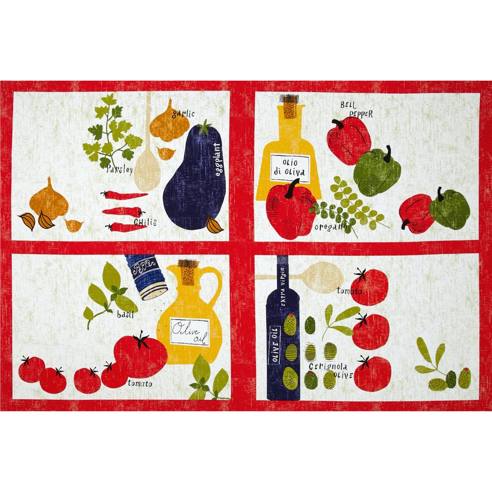 Cooking Italiano Placemats Panel White