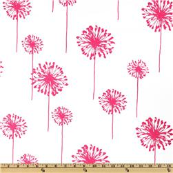 Premier Prints Dandelion White/Candy Pink Fabric