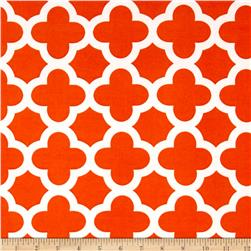ITY Knit Quatrefoil Print Orange
