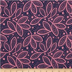 Amy Butler Violette Leaf Lines Rose Fabric
