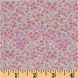 Kaufman Sevenberry Petite Garden Tight Buds Pink