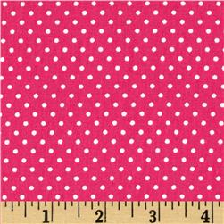 Pimatex Basics Mini Dots Hot Pink Fabric