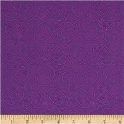 Kaffe Fassett Collective Aboriginal Dot Plum Fabric