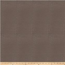 Fabricut Great Escape Faux Leather Pewter