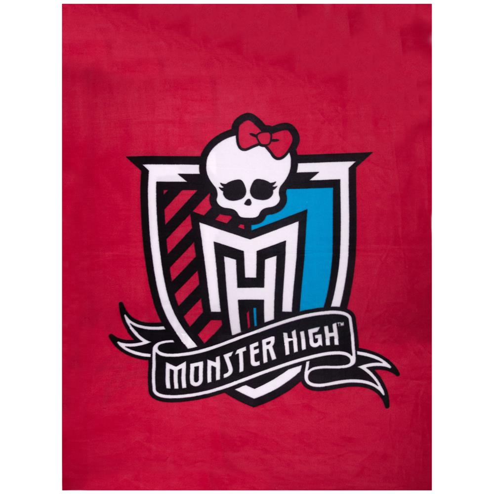 "Monster High Crest Fleece 47"" Panel Pink"