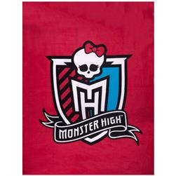 Monster High Crest Fleece Panel Pink