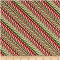 Santa's Big Night Candy Cane Stripe Red/Green