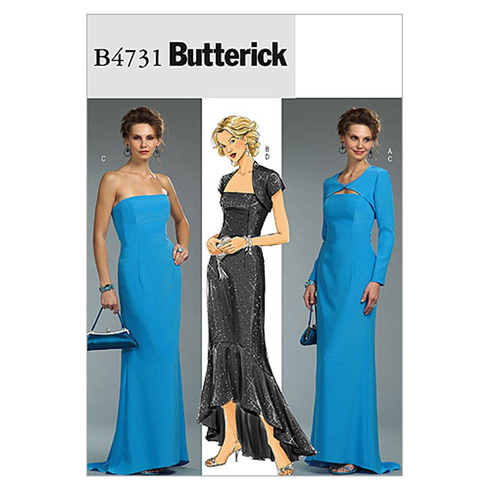 Butterick Misses'/Misses' Petite Shrug and Dress Pattern B4731 Size AA0