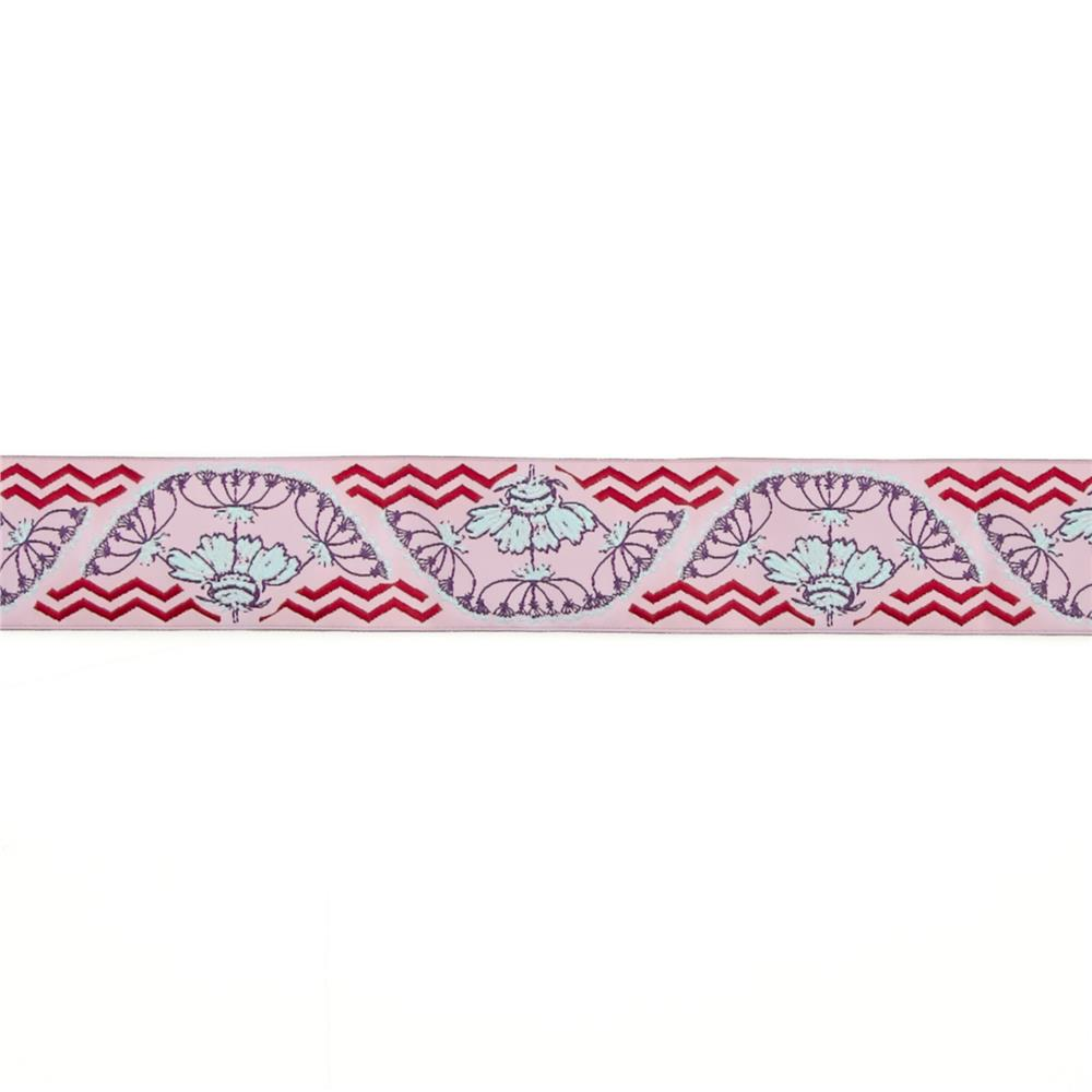 "1 1/2"" Anna Maria Horner Yarrow Flower Ribbon Purple/Pink"
